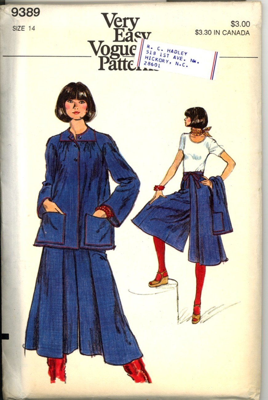 Auction 731 v 9389 culottes 14 mid 1970s