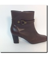 Nine West Brown Leather Ankle Boots Shoe 7.5 - $28.92