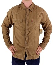 BRAND NEW LEVI'S MEN'S LINEN LONG SLEEVE CASUAL DRESS SHIRT BROWN 8151400 image 1