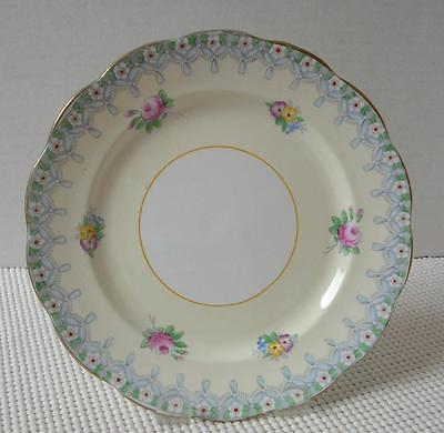 Primary image for TORQUAY by Royal Albert China SALAD PLATE Blue Ribbon Multi Floral England RARE!