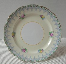 TORQUAY by Royal Albert Crown China SALAD PLATE Blue Ribbon Floral Engla... - $12.36