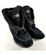 Cole Haan ZeroGrand Shearling Suede Chukka Boots Womens SZ 5.5 Waterproo... - $18.69
