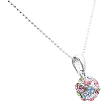 Multicolored Crystals Ball Round Pendant Holiday Christmas Gifts - $8.83
