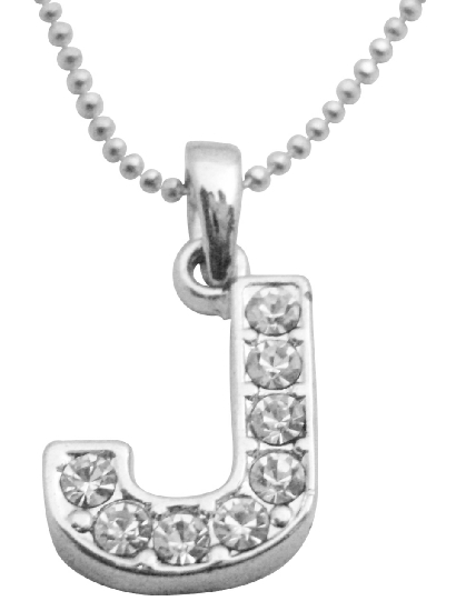 Cubic Zircon Affordable Under $5 Alphabet Pendant J Pendant Necklace