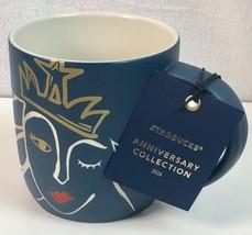 Starbucks Anniversary Mug 2016 Blue Siren 14 Ounce Cup Collectible - $21.29