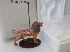 Franklin Mint Treasury Of Carousel Art Lion Mint By William Manns Boxed - $9.85