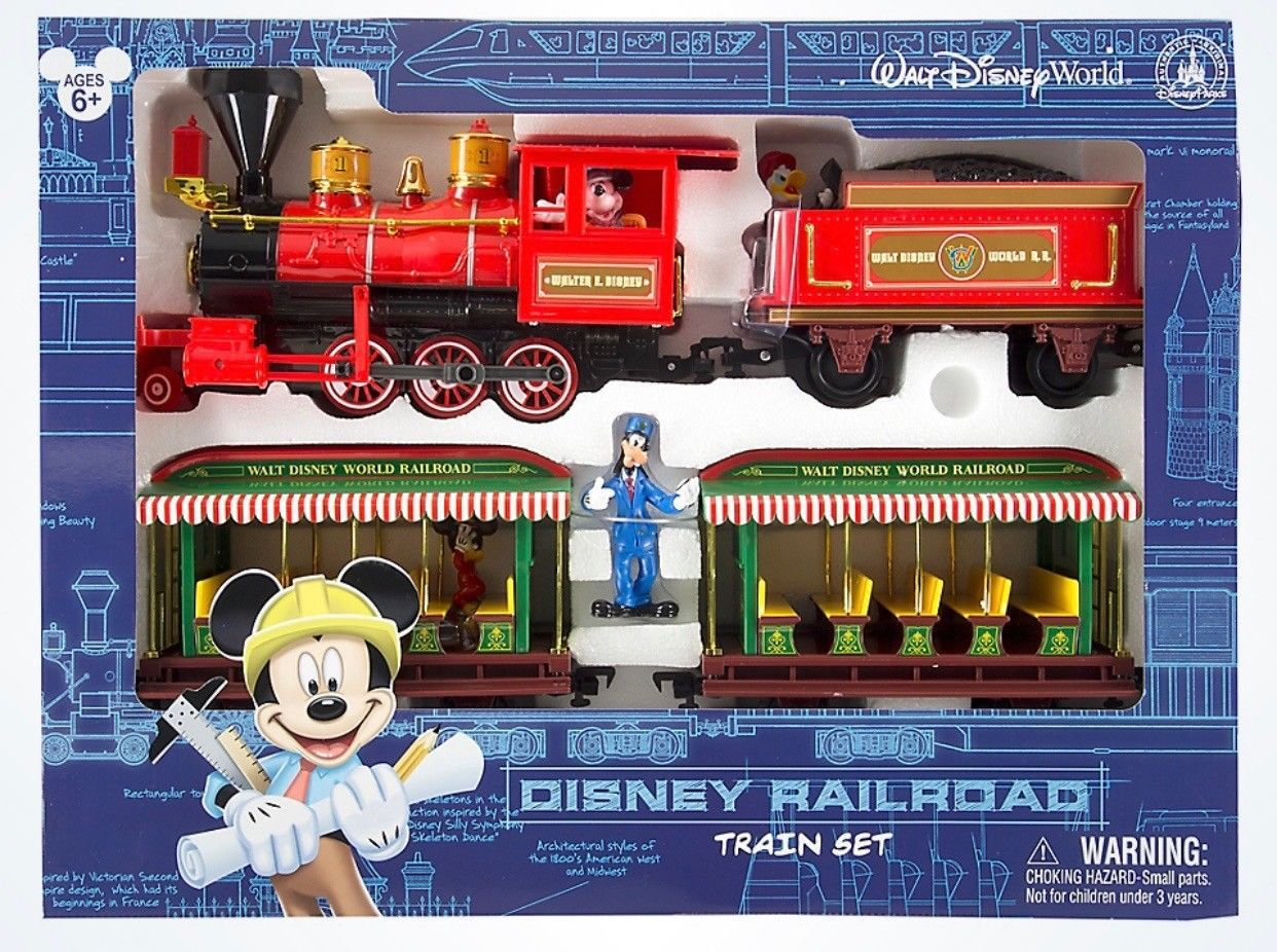 disney mickey & friends walt disney world railroad train playset new with box