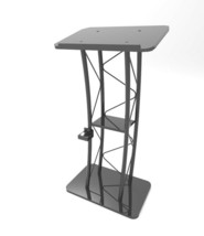 Curved Truss Podium Truss Pulpit Lectern Metal Wood Pulpit Lectern Cup H... - $286.42
