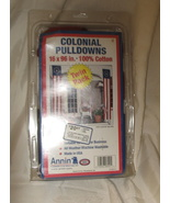 "Annin Twin Pack Colonial Pulldowns 16 "" x 96"" All Cotton New Old Stock N... - $24.95"