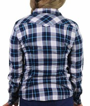 NEW LEVI'S WOMEN'S CLASSIC RELAXED WESTERN PLAID SHIRT BLUE 326390098 SIZE L image 2
