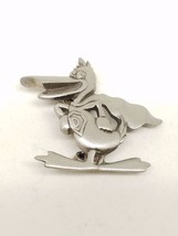 Vintage Pewter Super Duck Pin with Cape - $13.19