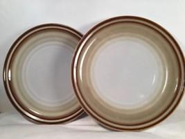 Noritake  Fanfare Luncheon Bread Salad Plates Lot of 2 #G621 Stoneware 8... - $19.75