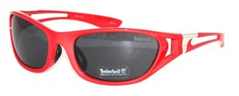 Timberland Sunglass Mens Metallic Red, Solid Smoke Lens Plastic Wrap TB7064 66A - $17.99