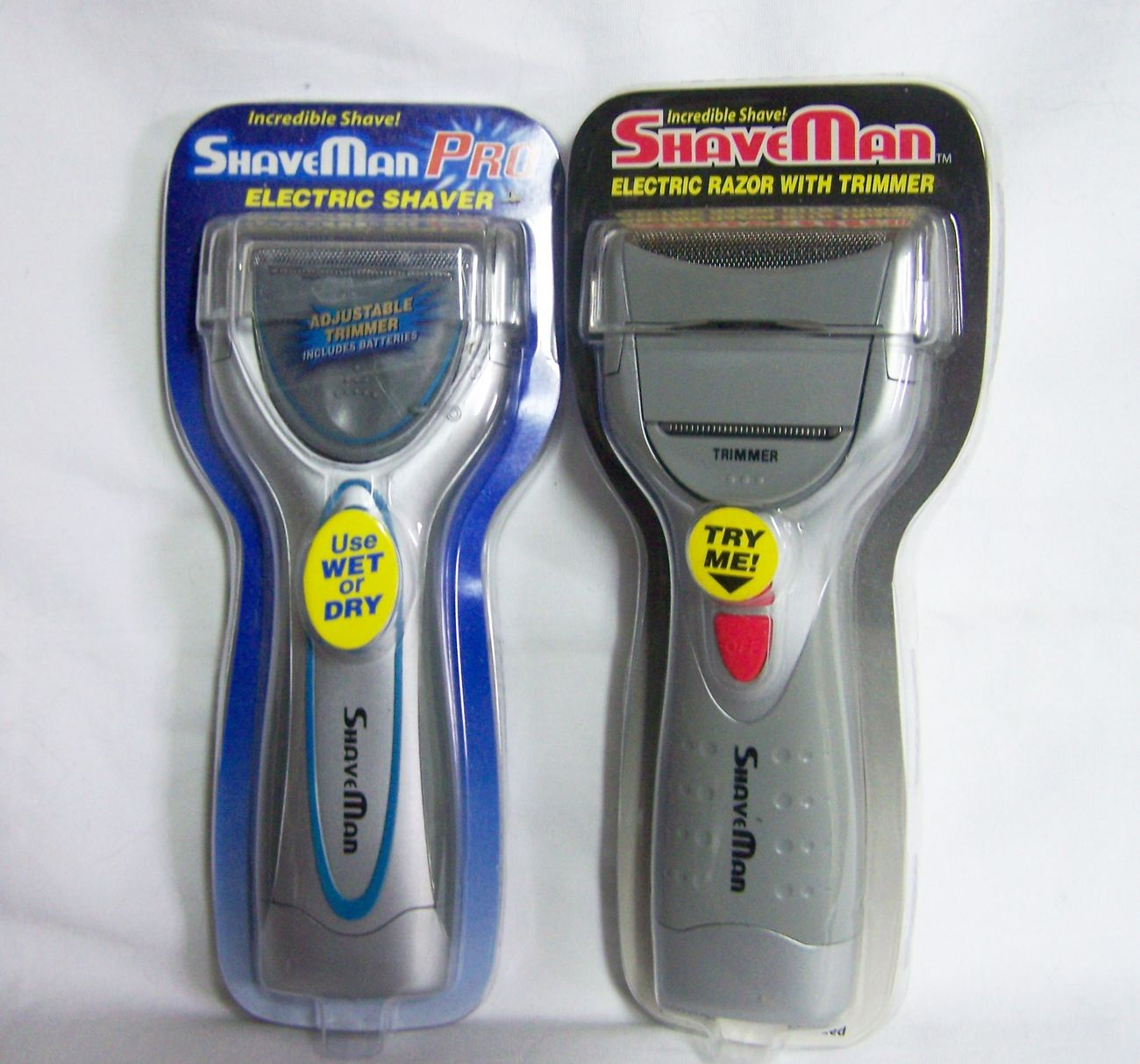 2 New Shaveman Electric Shavers With And 50 Similar Items Panasonic Es Rw30 Rechargeable Shaver Flexible Pivoting Head Shave1