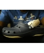 3 CROCS CANYON RIVER BLUES BLUE WHITE STRAP SIZE 9 male 11 women NON MAR... - $63.58