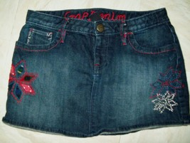 Gap Girls Skirt Size 14 Regular Denim Blue Jean Adj. Waist Spring Summer - $17.59