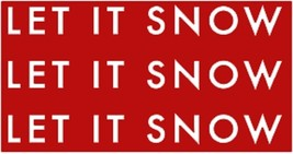 Holiday/Winter Rustic Wooden Sign - Item 2355 - Let It Snow----Approx 11... - $36.00