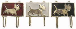 Art Deco Scottie Dog Hook in Chrome Metal with ... - $15.00