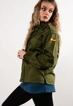 Vintage Spanish army women's olive khaki jacket coat military shirt badg... - $20.00