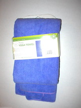 New Gaiam Mat Towel Fast Drying Thirsty Hot Yoga Pilates True Purple Absorbent - $22.50