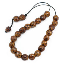 Worry Beads - Komboloi -  Scented Nutmeg Seeds with Engraved Crosses - B... - $32.00