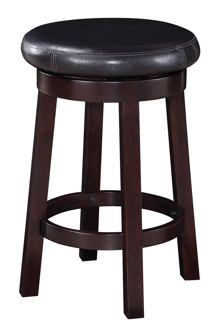 24 inch high seat round bar stool faux leather wood stool counter chair met1924 bar stools. Black Bedroom Furniture Sets. Home Design Ideas