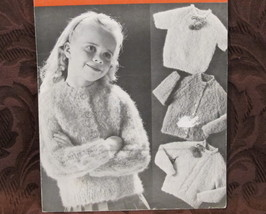 Vintage Molana Beehive Knitting Patterns CHILDREN 2 - 8 Cardigans Pullovers  - $4.95