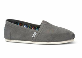 Toms CLASSICS Ash Canvas Grey Suede Insole Print Lining Slip On Men's Sh... - $15.67