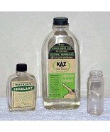 3 Old Glass Medicine Bottles - $15.00
