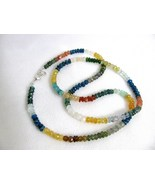 Mixed Gemstone Beaded Necklace RKS178 RKMixables Silver Collection - $60.00