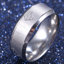 SUPERMAN BAND RING   **SIZE 5.5**    (12485)   WE COMBINE SHIPPING - $3.75