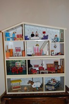 Vintage LUNDBY 4 Levels Doll House & Accessories PACKED FULL Stunning  - $1,728.43