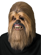 ADULT AUTHENTIC SUPREME CHEWBACCA DELUXE COLLECTORS MASK STAR WARS MENS ... - £90.46 GBP