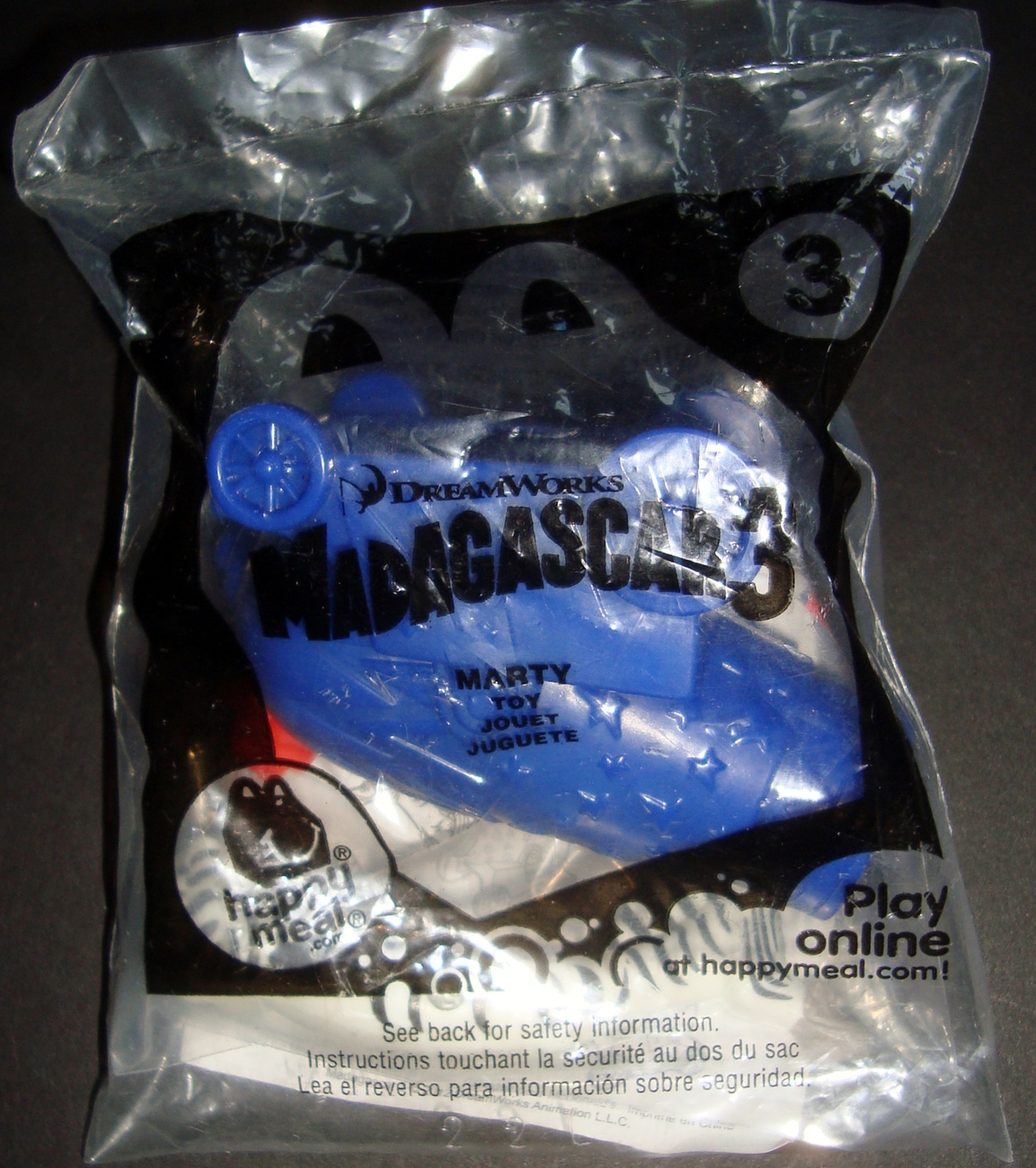 Dreamworks Madagascar 3 Marty Happy Meal Toy