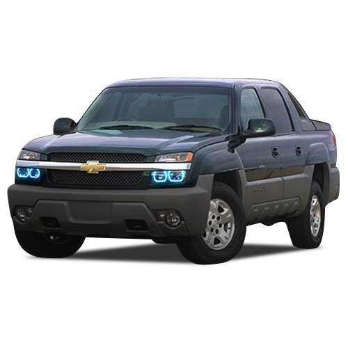 FLASHTECH for Chevrolet Avalanche 03-06 Blue Single Color LED Halo Ring Headligh - $185.22