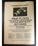 PINK FLOYD CAPTAIN BEEFHEART Knebworth 1975 uk ADVERT - $23.79