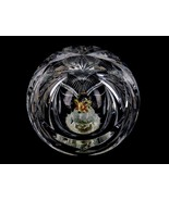 "Crystal Paper Weight, 4"" Heavy Paperweight w/Crystal Mouse Inside Viewin... - $39.15"