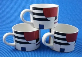 Sango RADIUS Geometric Mondrian COFFEE MUG CUP ~ Lot of 3 - RARE! - $23.33
