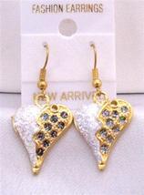 Puffy Heart Earrings Black White Glitter Puffy Heart Earrings - $5.58