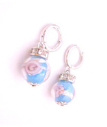 Blue Millefiori Fashionable Inexpensive Earrings Return Gift - $4.93