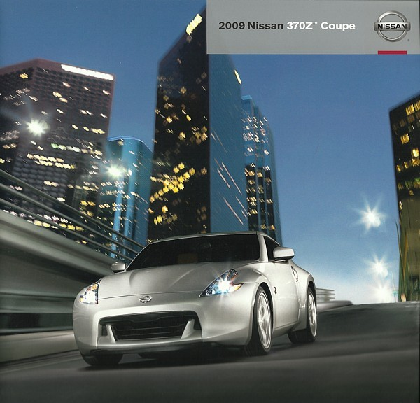 2009 Nissan Z COUPE sales brochure catalog US 09 370Z Touring