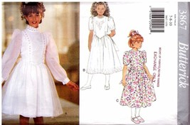 Butterick 3867 Girl's Dress - Sz 7-8-10 UNCUT - $10.99