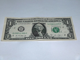 2013 Dollar Bill US Bank Note Date Year Birthday 2001 1395 Fancy Money S... - $13.93