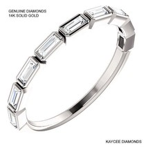 0.50 Carat Genuine Diamond Baguette Band in 14k Solid Gold