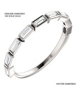 0.50 Carat Genuine Diamond Baguette Band in 14k Solid Gold - $699.00