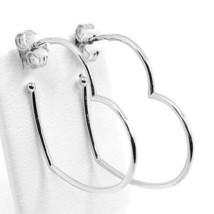Ohrringe Anhänger Weißgold 750 18K, Hearts, Länge 2.9 cm, Made in Italien image 1