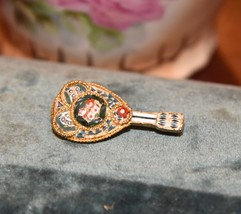 "FLORAL MICRO MOSAIC VINTAGE GUITAR MISTRAL MUSICAL INSTRUMENT PIN 1.25"" L - $24.99"