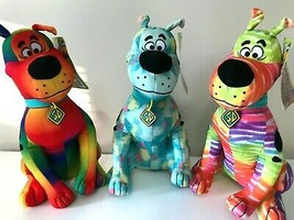"""New Set of 3 Scooby -Doo Plush Toys Color Blend. Large 12"""" each. Licensed. NWT - $38.21"""