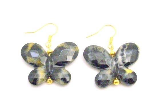Cheap Holiday Gifts Dollar Earrings Black Butterfly Gold Hook Earrings