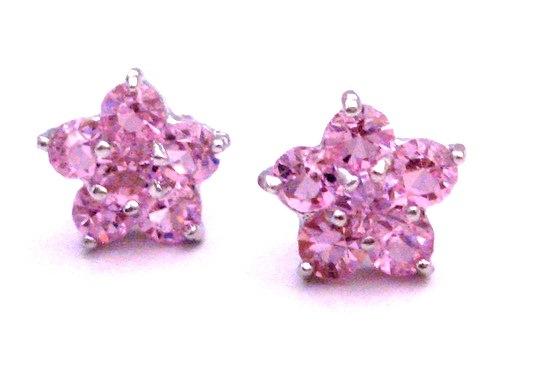 Only Dollar Rose Pink Stud Earrings Flower Stud Earrings